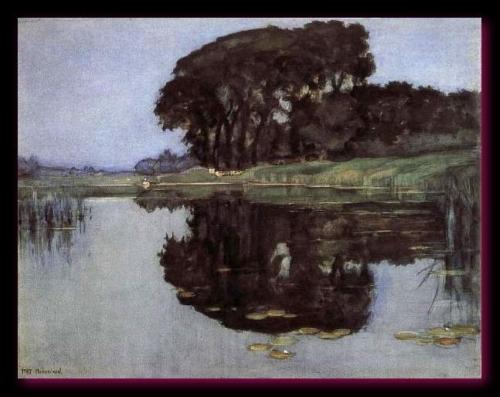 Landzicht, Ferme sous Ciel Bleu Sans nuages 1905 collection particulière
