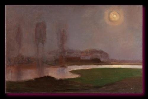 Campagne la nuit 1907Gemeentemuseum, la Haye,  Pays-Bas.