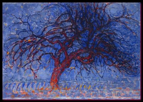 L'arbre rouge 1908 1910 Gemeentemuseum, la Haye,  Pays-Bas.