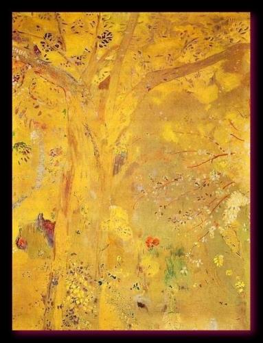 Arbre jaune Redon 1900 1901 musée d'Orsay