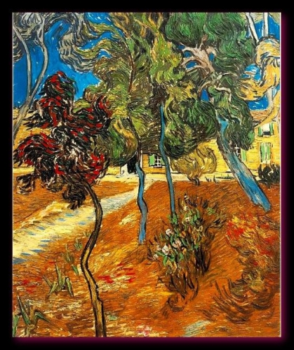 Arbres dans le jardin de l'hôpital Saint-Paul 1889 Van Gogh  (coll. privée)