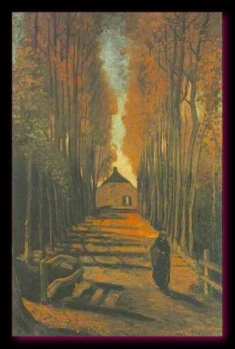 Avenue de peupliers en automne 1884 Van Gogh Museum Amsterdam
