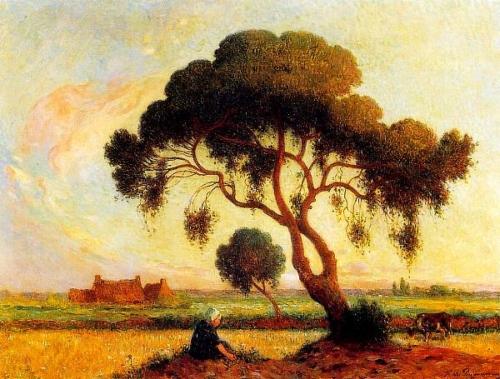 Bretonne assise sous un arbre 1907 1915 PUIGAUDEAU
