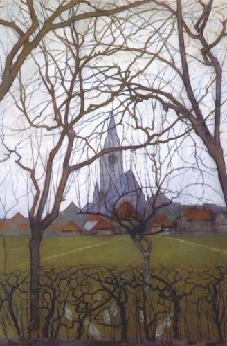 Eglise de village 1898 (collection privée)