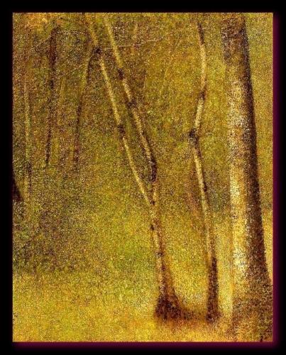 Forêt de Pontaubert Seurat  1881 Metropolitan Museum of Art  (New York)