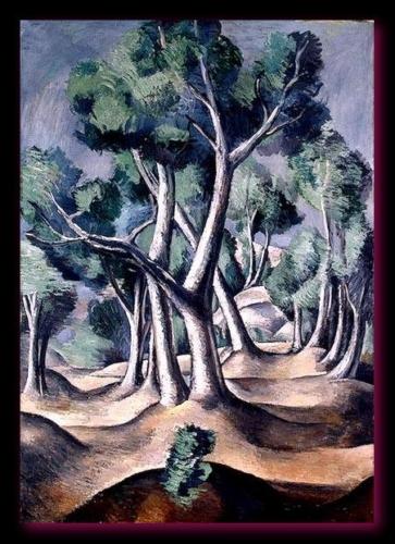 Le bosquet 1912 Derain Musée de l'Hermitage.