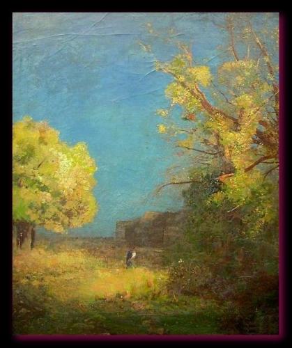 Le chemin de Peyrelebade près de Listrac. 1885 O Redon