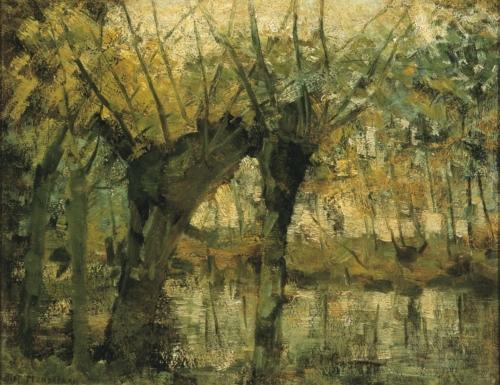 Saulaie. Impression de lumière et d'ombre. 1905 Dallas Museum . USA