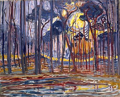 Bois près d'Oele 1908 Gemeentemuseum, la Haye,  Pays-Bas.